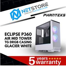 PHANTEKS ECLIPSE P360 AIR MID TOWER CASE TG GLACIER WHITE