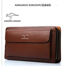 Kangaroo Branded Men's Purse/Cowhide Clutches/Fashion Men's Pouch