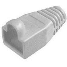 RJ45 NETWORK RUBBER CONNECTOR PVC COVER RUBBER BOOTS (50PCS) GREY