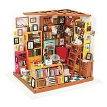 ROBOTIME Dollhouse Kit Miniature DIY Library House Kits Best Birthday Gifts fo