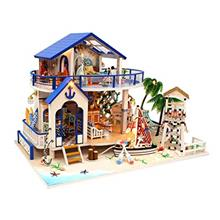 Architecture Model Building Kits with Furniture LED Music Box Miniature Wooden