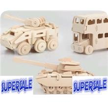 Jigsaw Puzzle Craft Construction Kit Model 3D WOOD