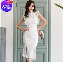 Women Slim Fit Sleeveless 2-Pieces Dinner Dress