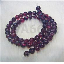 "DIY 6mm Dyed Ruby Red Agate Gemstone Garnet Maroon Color 15"" Strand Ba"