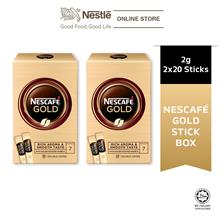 NESCAFE GOLD Stickbox 20stick x 2g Bundle of 2