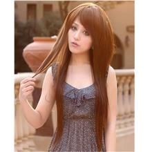 Long straight fluffy wig/ready stock/ rambut palsu