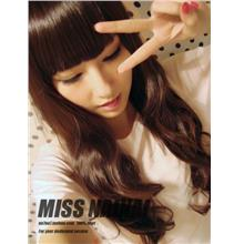 Long curve wig jk1/rambut palsu/ready stock