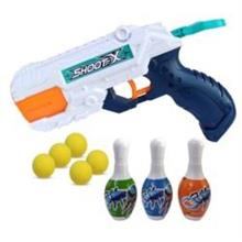 2 In 1 Gun Toys Soft Ball Gun With Bowling Pins Water Shot Gift Kids