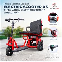 Fresco Electric Scooter X5 | Three Wheel Electric Scooter / Wheelchair