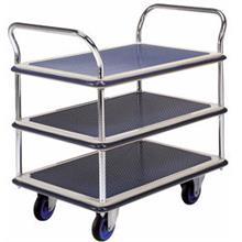 Trolley Hand Truck 2Handle 3Decker 150Kgs Metal MS105