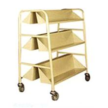 Library Book Trolley 2 Sided 3 Sloping Shelves