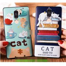 Huawei Mate 8 9 / Pro 3D Relief Cat Silicone Back Case Cover Casing