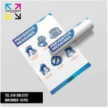 [Ready Stock] 10PCs Covid-19 Prevention Guideline A3 Poster