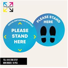"[Ready Stock] 10PCs Social Distancing Floor Sticker 12""x12"""