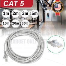 White RJ45 CAT 5 Ethernet Network LAN Cable Modem Router Connector