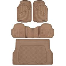 Motor Trend FlexTough Performance All Weather Rubber Car Floor Mats with Cargo