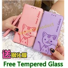 DOMi Cat Samsung Galaxy A8 A7 A5 Case Cover Casing + Tempered Glass