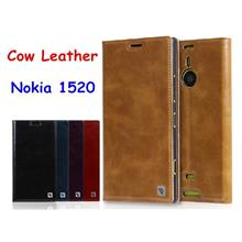 Icool Cow Leather Nokia Lumia 1520 Flip Case Cover Casing + Free Gifts