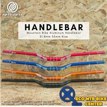 FIFTY-FIFTY Mountain Bike Aluminum Handlebar 31.8mm 35mm Rise