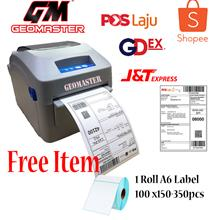 Geomaster A6 Label Thermal Printer Label Air Waybill Simple and Quick Poslaju
