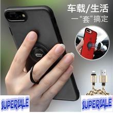 Metal Ring Transparent Casing Case Cover for iP 6/6Plus 7/7 Plus