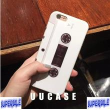 iPhone 6/6s 6Plus/6sPlus 7/7Plus White Tape Cassette Mobile Phone Case
