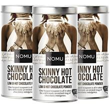 NOMU Skinny 60% Cocoa Hot Chocolate (3-Pack) | Only 20 Calories, High Protein,