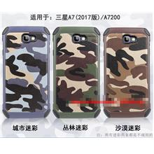 Samsung Galaxy A7 2017 Camouflage Armor Back Case Cover Casing