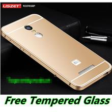Xiaomi Redmi Note 3 Pro Metal Bumper Case Cover Casing +Tempered Glass