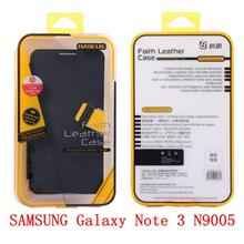 SAMSUNG Galaxy Note 3 N9005 BASEUS PU Leather Case Casing Cover