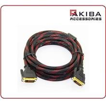 High Grade DVI Cable DVI-D Male Cable (5m)