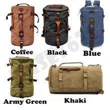 Travel Laptop Canvas Man Backpack Back Pack Double Shoulder Bag 1383.1