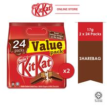 Nestle KITKAT 24 Packs Value Share bag, Bundle of 2)