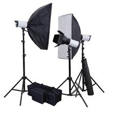 L-Lite Complete Studio Flash Strobe Monolight Kit (400WS-3KIT)