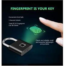 Fingerprint Lock Smart Padlock Thumbprint Anti-Theft Gate Luggage