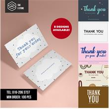 Thank You Card | A6 260gsm artcard small business packaging, kad murah