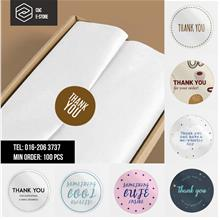 30/40/50mm Thank You Sticker │ Mirrorkote Sticker, Sticker Murah