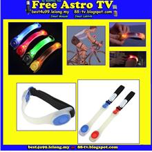 Safety LED Flashing Arm band Wrist Strap Armband Bicycle Bike Party bb