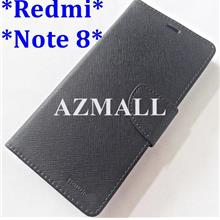 "MERCURY Fancy Diary Case Flip Cover Xiaomi Redmi Note 8 (6.3"") ~BLK"