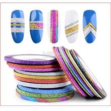 1/2/3mm-Holographic Matte Glittery Foil Tape Roll-Nail Striping Line