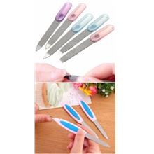 Metal Nail File-Dual End Shaping Sanding Filer-Cuticle Remover Trimmer