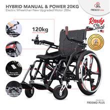 Electric Wheelchair Lightweight Hybrid New Upgraded 200W Motor