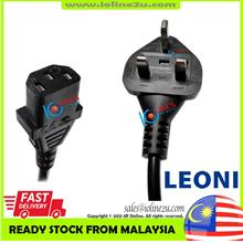 LEONI 3m IEC-320-C13 CPU Monitor Printer Power Cord 10A 250V Fused 3 Prong 1mm