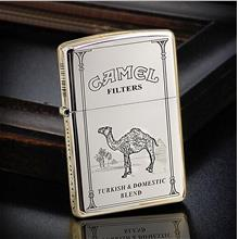 High Polished 250 Armor 5 Sided Camel Zippo Lighter