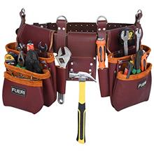 Tool Pouch Framers Combo Tool Bag Tool Kit | Heavy Duty Pro Gauge Leather, Rig