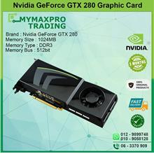 NVIDIA GeForce GTX 280 1GB DDR3 512bit Dual DVI TV-Out Graphic Card
