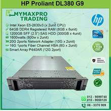 HP ProLiant DL380G9 Rack Server E5-2630v3 2CPU 64GB RAM 1200GB SAS HDD