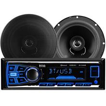 BOSS Audio Systems 638BCK Car Stereo Package - Single Din, Bluetooth, - no CD