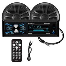 BOSS Audio Systems MCBK634B.6 Weatherproof Marine Receiver Speaker Package - M