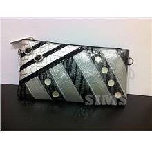 Wristlet Bag: Silver,Black, Grey, Leather, Bling pouch with Rhinestone